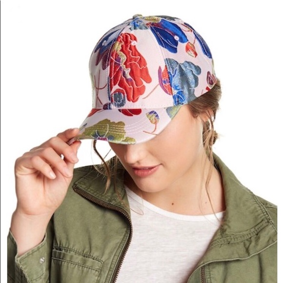7ed8acabbf5 Betsey Johnson Floral Embroidered Cap